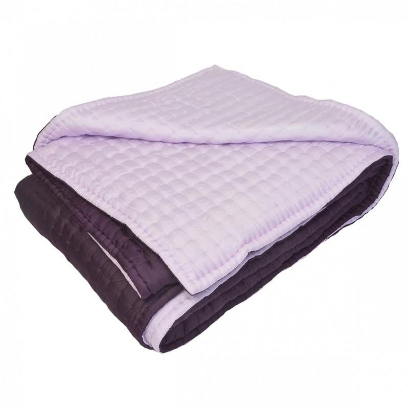 boutis couvre lit en soie rose. Black Bedroom Furniture Sets. Home Design Ideas