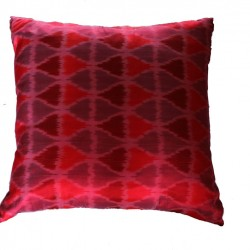 Ikat Square silk cushion