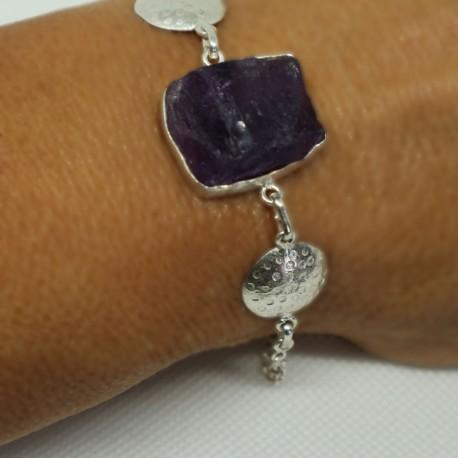 Silver amethyst bracelet Bella