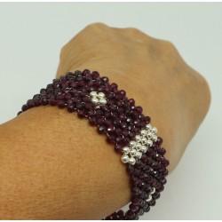 Garnet silver bracelet Angie