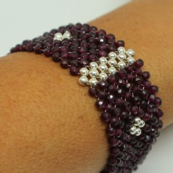 Bracelet argent grenat Angie