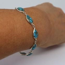Bracelet argent turquoise