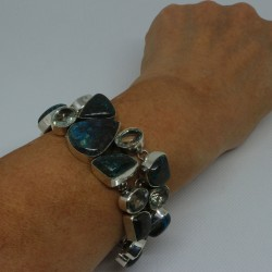 Bracelet argent chrysocolle