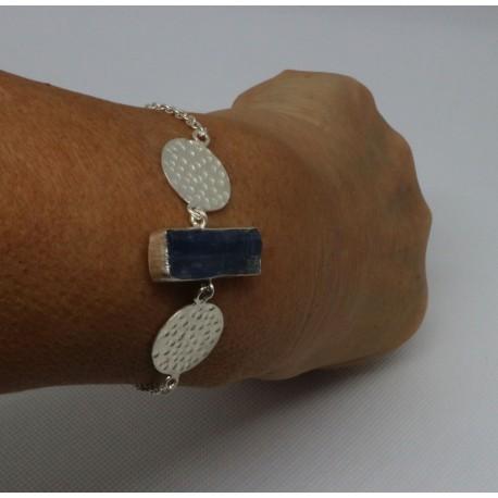 Bracelet argent Cyanite