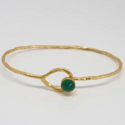 Bracelet Onyx vert Gaia