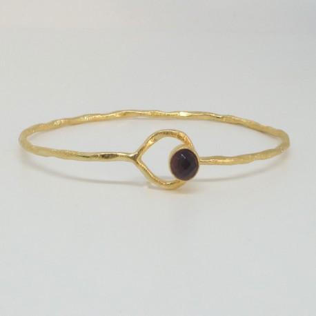 Golden chain bracelet Amethyst