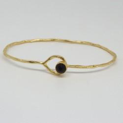 Bracelet jonc Onyx noire Nubia