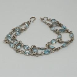 Bracelet argente topaze Tess