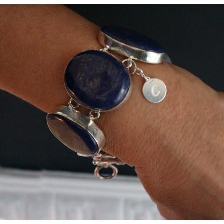 silver lapis lazuli bracelet Linda
