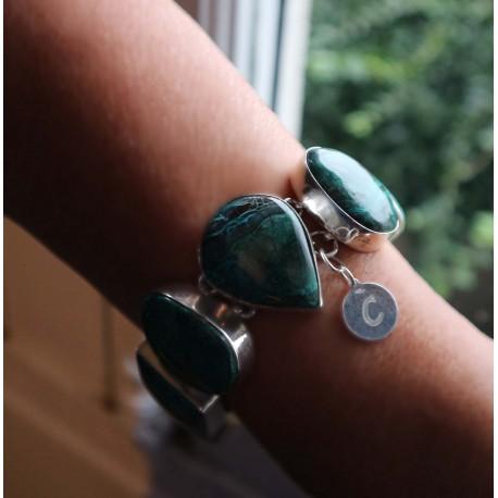 silver chrysocolla bracelet Azura