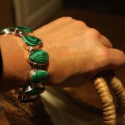 Bracelet argent malachite