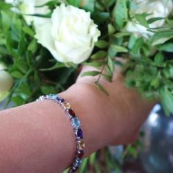 Bracelet argent agate Angelina