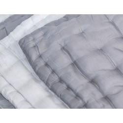Silk quilt grey ivory