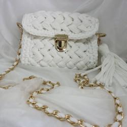 sac tricoté blanc