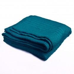 Boutis couvre lit matelassé en soie émeraude Ispahan
